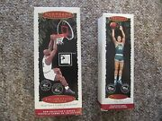 Larry Bird And Shaquille O'neal Hallmark Christmas Ornaments From Canada.