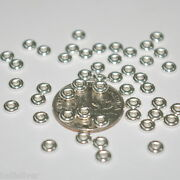 400 Pieces Sterling Silver 925 4mm Rondelle Spacer Beads Lot - Jewelry Making