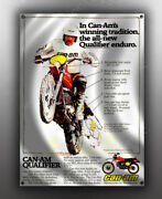 Vintage Can-am Qualifier Motorcycle Banner