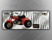 Vintage Honda And039one To Grow On.and039 Three Wheeler Banner