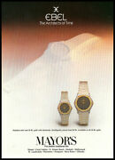 1982 Vintage Ad For Ebel Watches