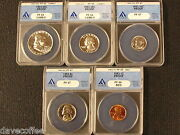 1953 Proof Set Anacs Graded Gems W/ 2 Cameos In Set