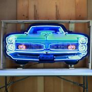 Neon Sign Pontiac Gto Garage Wall Lamp Light 1968 1967 1966 Coupe Dads Goat