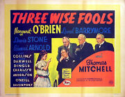 Three Wise Fools 1946 Margaret Oandrsquobrien Lionel Barrymore Lewis Stone Uk Poster