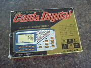 Card And Digital Fortune Teller Handheld Lcd Game 1980s Rare Vintage Retro