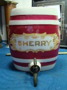 Old Sherry Decanter Container Vintage Antique Alcohol Wine Ep13735