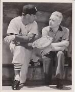 1958 Stan Musial Poses With Glove In Dugout - Rawlings Promotional Photograph