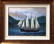 Pete Peterson Coasting Northwest Signed Fine Art Giclee Canvas Boat Make Offer