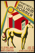 Horse Cleveland Art Center Paintings Exhibition Usa Vintage Poster Repro