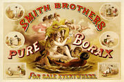Smith Brothers Pure Boraxx Cleaner Soap Bath Laundry Vintage Poster Repro