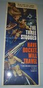 Three 3 Stooges - Have Rocket Will Travel -original 1959 Us Theater Movie Poster
