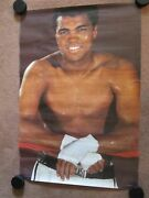 1977 Muhammad Ali Poster. Made In Germany Very Rare