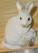 Stone Critters Bunny Rabbit Snowshoe Hare Sc386 - 4.5 Tall