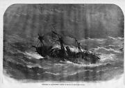 Rescue Steamship Trouble In Bay Of Biscay Rowing Lifeboat Life Saving In 1866