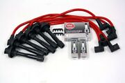 Spark Plug Wires Set And Ngk Vpower Plugs Kit For 99-08 Hyundai Sonata V6 Red