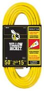 12 Coleman Cable 2887 Yellow Jacket 50and039 15a 14/3 Heavy Duty Extension Cords