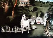 G H Rothe Stroll Hand Signed Artwork 1989 Horse Limited Edition Paper Obo