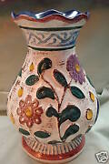 WEST GERMAN Embossed Flower Vase Bay Keramik ? GERMANY