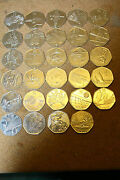 2011 London Olympics 50p Coins All In Good Condition - Becoming Very Rare