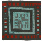 A Great Abstract Quilt With Very Strong Color And Graphics.