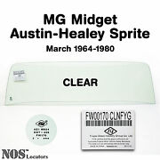 Mg Midget, Ah Sprite 1964-80 Clear Windshield Glass New - Pickup Only