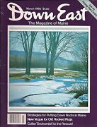 Down East Maine Magazine 1980 March Hooked Rugs/rockland Tugboat/veazie