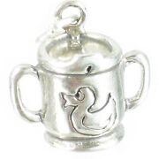 Baby Sipper Cup Sterling Silver Charm .925 X 1 Babys Babies Cups Charms