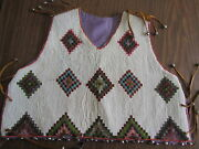 Native American Handmade Vest Solid Bead Colorful L@@k