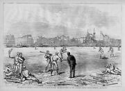 Baseball Red Stockings And Athletics Players In England 1874 Antique Base-ball