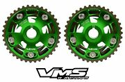 Vms Honda Prelude H22 Dohc Engines Adjustable Billet Cam Gears Pair Qty 2 Green