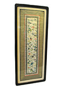 Superb Chinese Silk Hand Embroidery Panel, 19th/20th C Framed