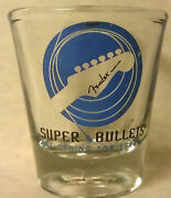 Fender Super Bullets Guitar Strings Ad Shot Glass The String For Strats Used