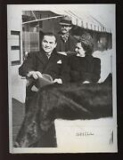 Original December 11 1937 Barney Ross And Bride Boxing Wire Photo