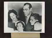 Original August 28 1953 Primo Carnera And Family Become Citizens Boxing Wire Photo