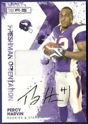Percy Harvin 2009 09 Panini Rs Freshman Orientation Signed Auto Jersey Card /