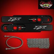 1999 Zx6r 12 Swingarm Extensions 36 Brake Line 525 Chain Zx6-r Extension