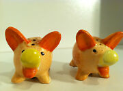 Vintage Pig Salt And Pepper Shakers Made In Occupied Japan