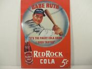 Babe Ruth Ny Yankees Red Rock Cola Replica Metal Sign