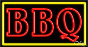 Brand New Bbq Barbeque 37x20x3 Border Real Neon Sign W/custom Options 11051