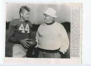 Original July 26 1951 Steve Owens And Kyle Rote New York Giants Nfl Fb Wire Photo