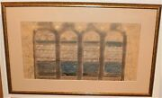 Speeding Train Subway Painting-pastel And Pencil-1940-august Mosca