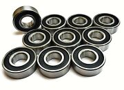 10 Pack R4a 2rs Double Sealed Cartridge Bearings 1/4x3/4x9/32w