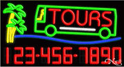 New Tours W/your Phone Number 37x20x3 Real Neon Sign W/custom Options 15111