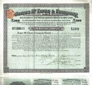 Australia Bond 1893 James Mc.ewan And Company Andpound100 Uncancelled Issued Only 390 Cop