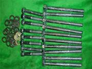36pc Moroso Hex Head Bolts And Washer Chrome Big Block Chevy 7/16 X 4, 2-1/4 39813