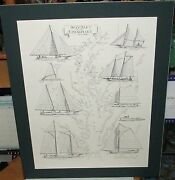 David Morehead Bay Craft Of The Chesapeake Hand Signed Yachts Lithograph