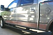 For 04-08 Ford F150 Supercab 6.5' Short Bed W/fender Rocker Panel Stainless Trim
