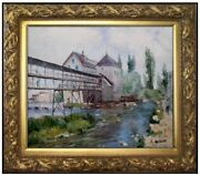 Framed Alfred Sisley Provencherand039s Mill Repro Hand Painted Oil Painting 20x24in