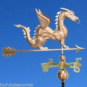 Dragon Weathervane W/copper Balls And Brass Directionals Made In The Usa 375