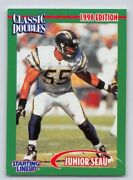 1998 Junior Seau - Starting Lineup Card - San Diego Chargers - Classic Doubles